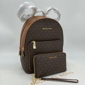 Michael Kors MD Adina Backpack & Phone Case Wallet